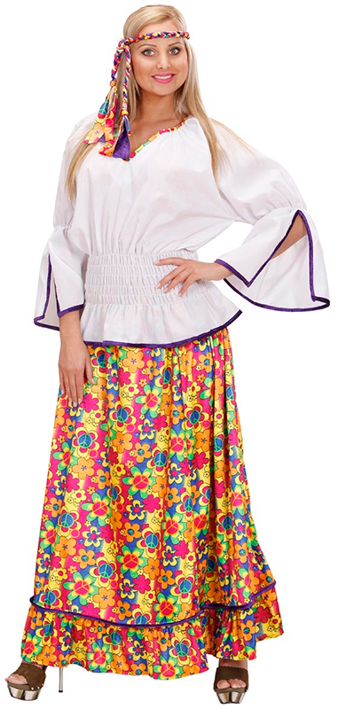 4c013342222 Image is loading 60-039-S-VELVET-HIPPIE-FLOWER-POWER-WOMAN-